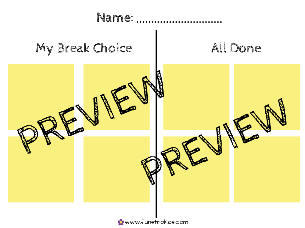 Heavy Work Activity Break Card