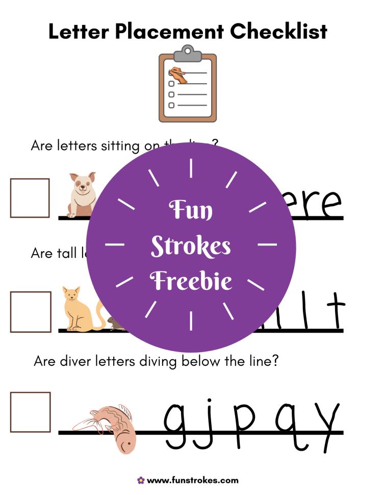 Letter Placement Checklist